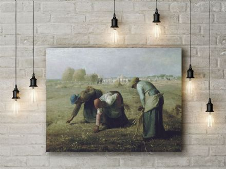Jean Francois Millet: The Gleaners. Fine Art Canvas.